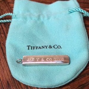 Tiffany & Co sterling 1837 bar pendant